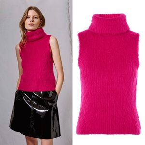 Topshop Sweaters - NWT Topshop Fluffy Roll Neck Knit Tank By Boutique
